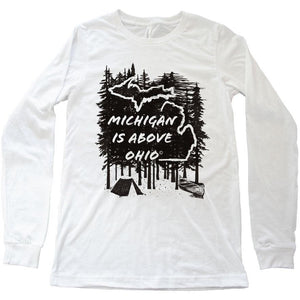 Michigan Above long sleeve tee - Michigan Vibes