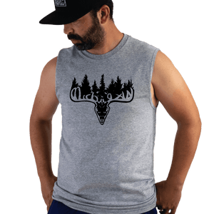 Michigan Buck Sleeveless Tee - Michigan Vibes