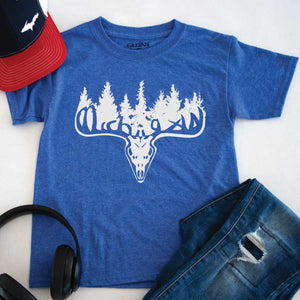 Michigan Buck Youth Tee - Michigan Vibes