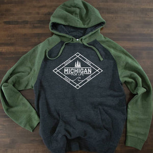 Michigan for Life Raglan Hoodie - Michigan Vibes