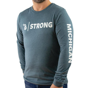 Michigan Strong long sleeve tee - Michigan Vibes