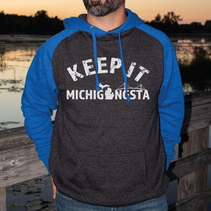 Michigangsta Raglan Hoodie - Michigan Vibes