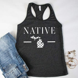 Native One Racerback Tank - Michigan Vibes