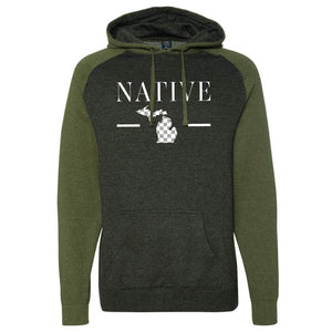 Native One Raglan Hoodie - Michigan Vibes