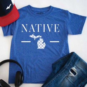 Native One Youth Tee - Michigan Vibes