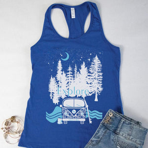 On the Road Racerback Tank - Michigan Vibes