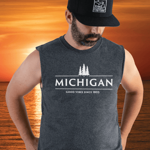 Origin Sleeveless Tee - Michigan Vibes