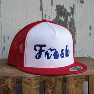 The Fresh Flat bill Trucker Hat - Michigan Vibes