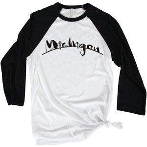 The Mac 3/4 Baseball Tee - Michigan Vibes