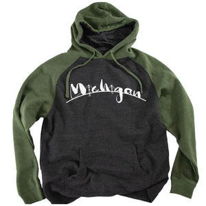 The Mac Raglan Hoodie - Michigan Vibes