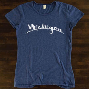 The Mac Tri-blend Scoop neck tee - Michigan Vibes