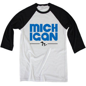The Michigan 3/4 Baseball Tee - Michigan Vibes
