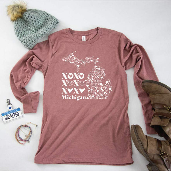 XOXO Michigan long sleeve tee - Michigan Vibes