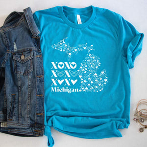 XOXO Michigan Tee - Michigan Vibes