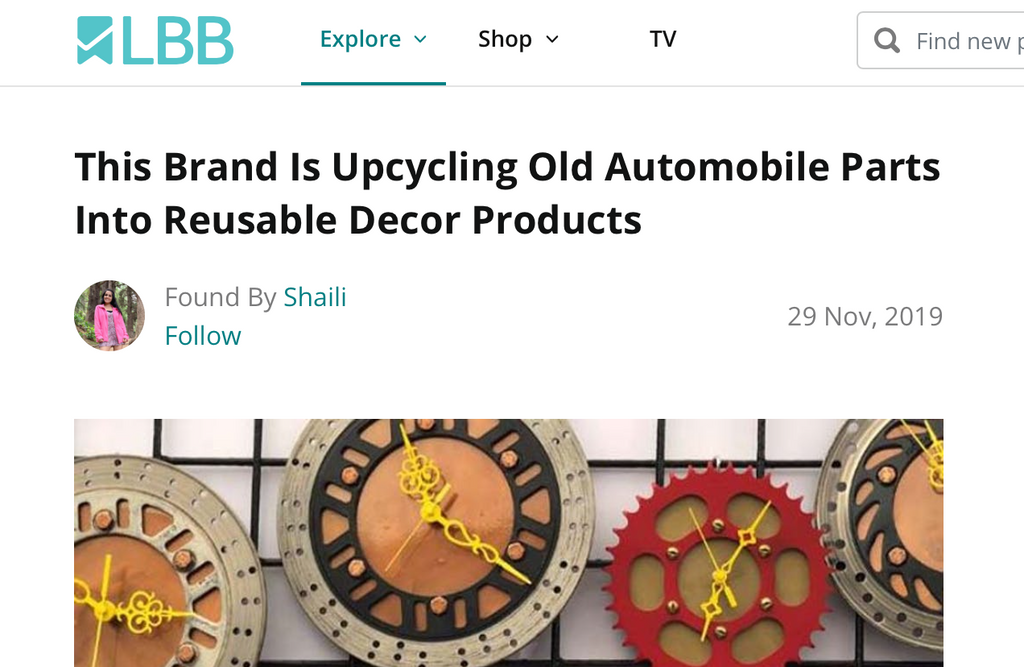 [LBB.in] This Brand Is Upcycling Old Automobile Parts Into Reusable Decor Products