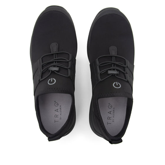 Cynch Black lace up smart shoes with Q-chip™ technology. CYN-M7001_S5