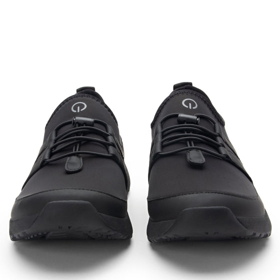 Cynch Black lace up smart shoes with Q-chip™ technology. CYN-M7001_S7