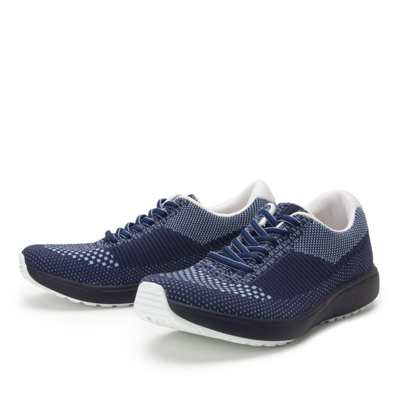 Goalz Navy lace-up smart shoes with Q-chip™ technology. GOA-5411-S2