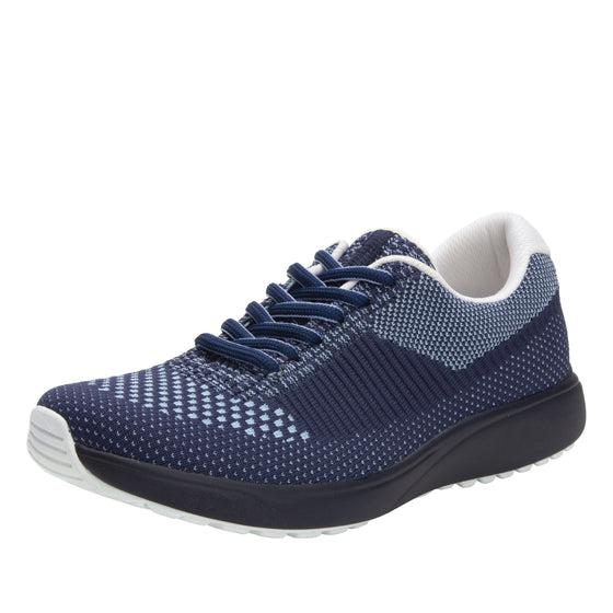 Goalz Navy lace-up smart shoes with Q-chip™ technology. GOA-5411-S1