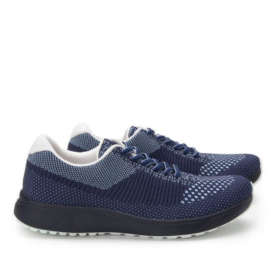 Goalz Navy lace-up smart shoes with Q-chip™ technology. GOA-5411-S3