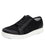 Lyriq Wooly Bully Black lace-up smart shoes with Q-chip™ technology. LYR-5001_S1