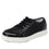 Lyriq Black Velvet lace-up smart shoes with Q-chip™ technology. LYR-5008_S1