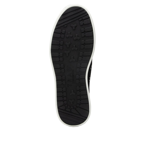 Lyriq Black Velvet lace-up smart shoes with Q-chip™ technology. LYR-5008_S5