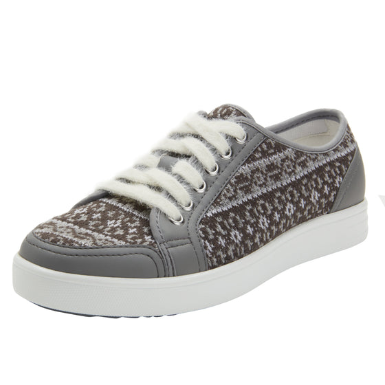 Lyriq Arctic Grey lace-up smart shoes with Q-chip™ technology. LYR-5098_S1
