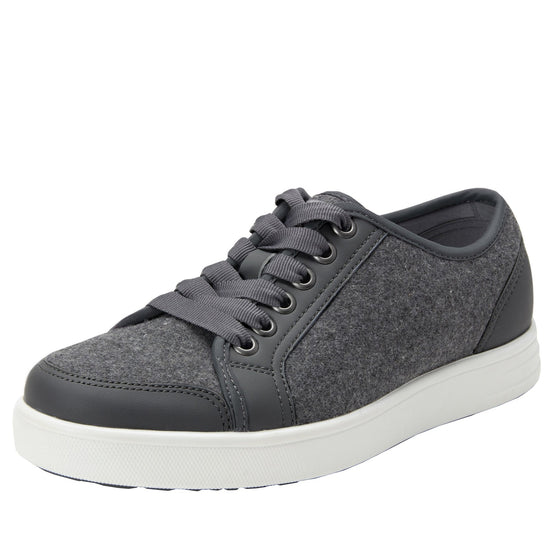 Lyriq Wooly Bully Grey lace-up smart shoes with Q-chip™ technology. LYR-5099_S1