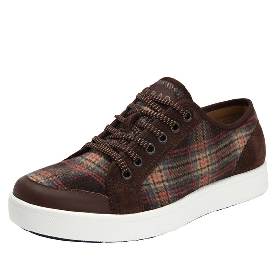 Lyriq Flannely Brown lace-up smart shoes with Q-chip™ technology. LYR-5210_S1
