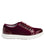 Lyriq Wine Velvet lace-up smart shoes with Q-chip™ technology. LYR-5609_S2