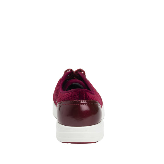 Lyriq Wine Velvet lace-up smart shoes with Q-chip™ technology. LYR-5609_S3
