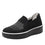 Mystiq Peeps Black slip on style smart shoes with Q-chip™ technology. MYS-5005_S1