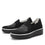Mystiq Peeps Black slip on style smart shoes with Q-chip™ technology. MYS-5005_S2