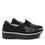 Mystiq Peeps Black slip on style smart shoes with Q-chip™ technology. MYS-5005_S3