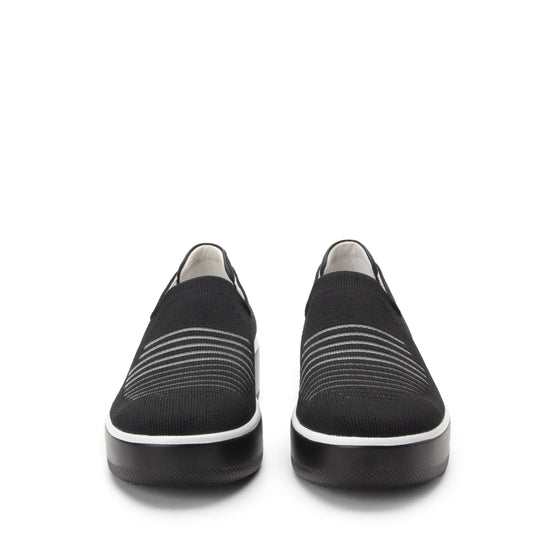 Mystiq Peeps Black slip on style smart shoes with Q-chip™ technology. MYS-5005_S7