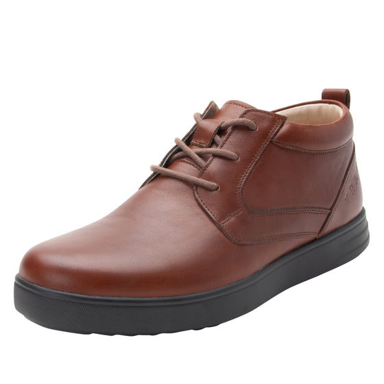 Outbaq Crazyhorse Brown smart shoes with Q-chip™ technology. OUT-M7220_S1