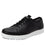 Qake Black leather smart shoes with Q-chip™ technology. QAK-M7002_S1