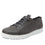 Qake Grey leather smart shoes with Q-chip™ technology. QAK-M7018_S1
