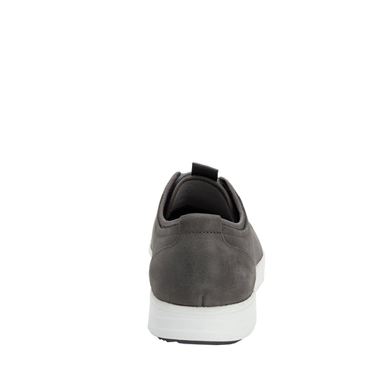 Qake Grey leather smart shoes with Q-chip™ technology. QAK-M7018_S3
