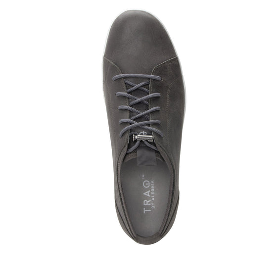 Qake Grey leather smart shoes with Q-chip™ technology. QAK-M7018_S4