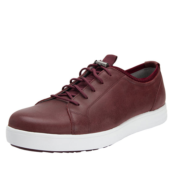 Qake Maroon leather smart shoes with Q-chip™ technology. QAK-M7602_S1