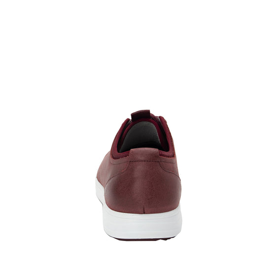Qake Maroon leather smart shoes with Q-chip™ technology. QAK-M7602_S3