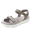 Qali Grey three adjustable strap sandal with Q-chip™ technology. QAL-5036_S1