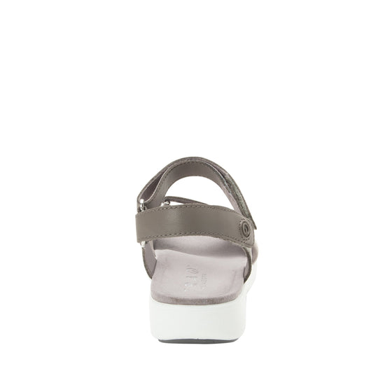 Qali Grey three adjustable strap sandal with Q-chip™ technology. QAL-5036_S3