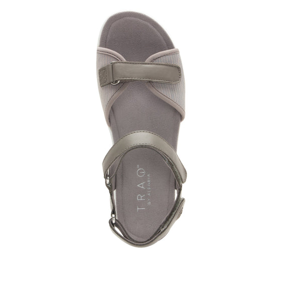 Qali Grey three adjustable strap sandal with Q-chip™ technology. QAL-5036_S4