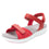 Qali Red three adjustable strap sandal with Q-chip™ technology. QAL-5608_S1