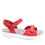 Qali Red three adjustable strap sandal with Q-chip™ technology. QAL-5608_S2