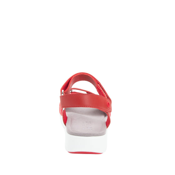 Qali Red three adjustable strap sandal with Q-chip™ technology. QAL-5608_S3