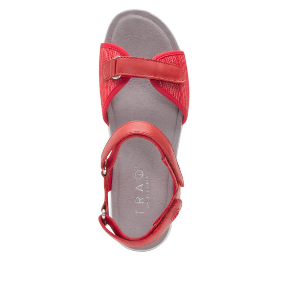 Qali Red three adjustable strap sandal with Q-chip™ technology. QAL-5608_S4
